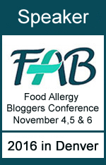 I'm a Speaker at the 2016 Food Allergy Bloggers Conference #FABLOGCON